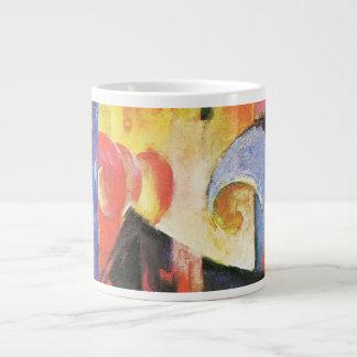 Broken Forms aka Zerbrochene Formen by Franz Marc Large Coffee Mug