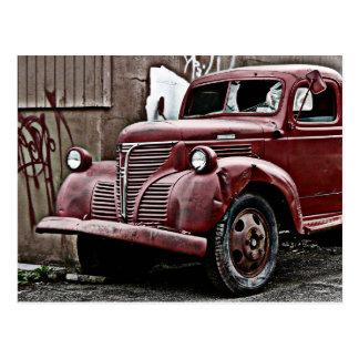 Broken Front Window Truck in Back Alley Postcard