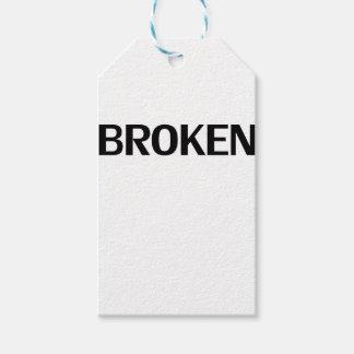 broken gift tags