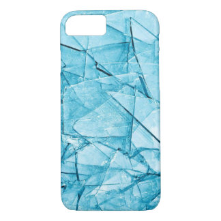 broken glass blue iphone case