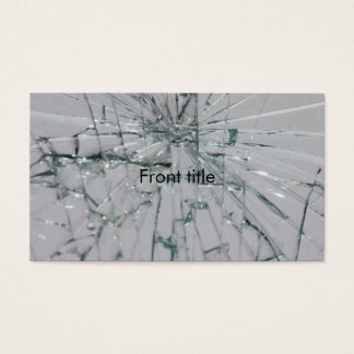 Broken Glass-Look Business Card