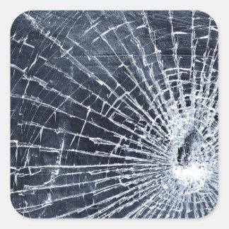 Broken Glass Square Sticker