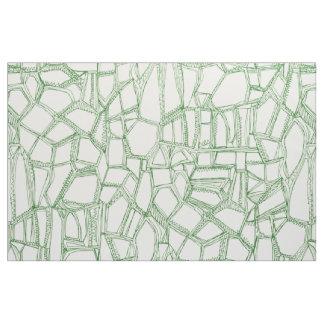 BROKEN green off white Fabric