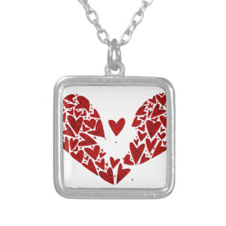 Broken Heart Attack Silver Plated Necklace
