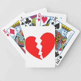 Broken Heart Bicycle Playing Cards