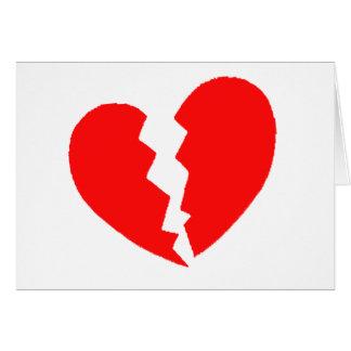 Broken Heart Card