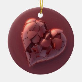 Broken Heart Ceramic Ornament