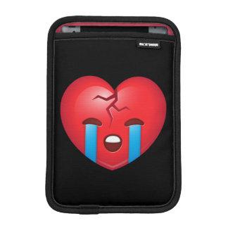 Broken Heart Emoji iPad Mini Sleeves
