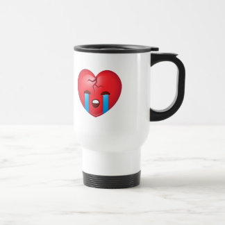 Broken Heart Emoji Travel Mug
