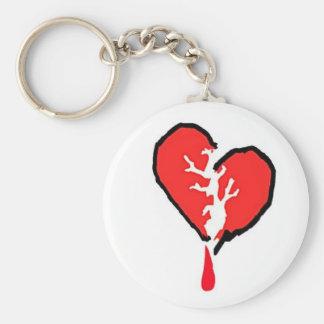 Broken heart key chain