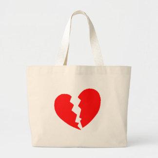 Broken Heart Large Tote Bag