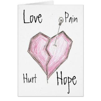 Broken Heart Note Card