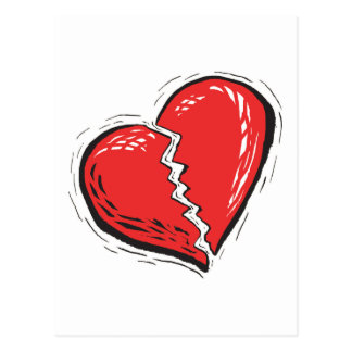 Broken Heart Postcard