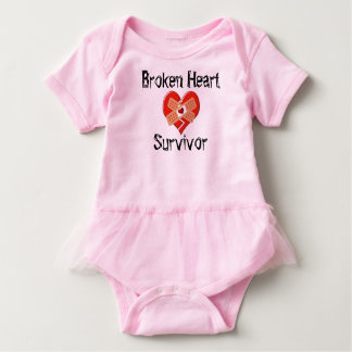 Broken Heart Survivor Bodsuit Baby Bodysuit