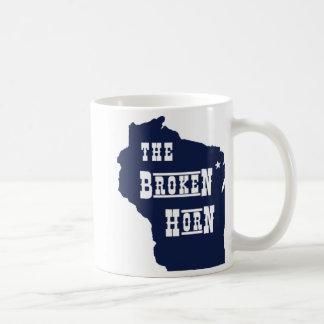 broken horn mug blue