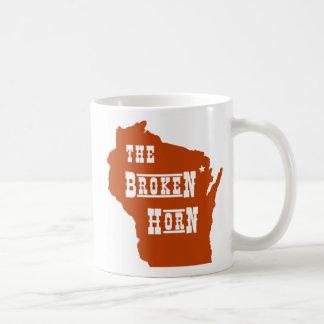 broken horn mug orange