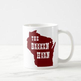 broken horn mug red