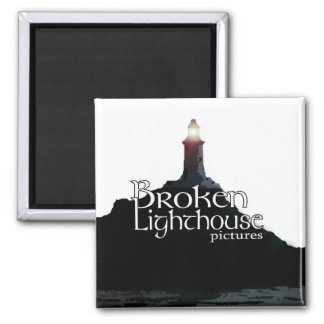 Broken Lighthouse Pictures Magnet Regular - Square