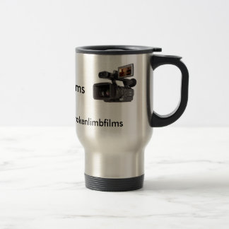 Broken Limb Films Silver Travel Mug