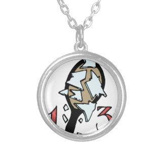 Broken Mirror Silver Plated Necklace