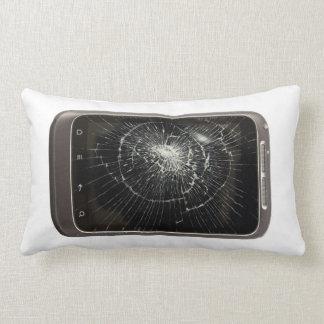 Broken Mobile Phone Throw Pillows