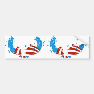 Broken Obama Logo 2 in 1 Bumber Sticker Bumper Sticker