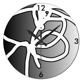 Broken Orb II Circle Clock