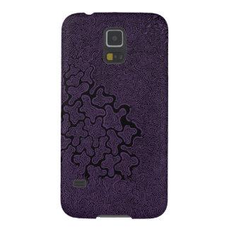 Broken Pieces Samsung Galaxy S5 case in purple
