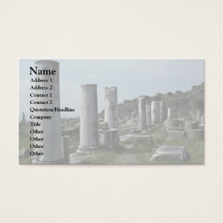 Broken Pillars Business Card