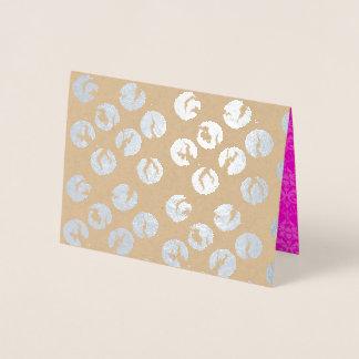 Broken Polka Dots Card     Silver Foil Print