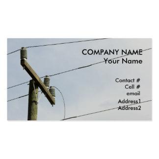 broken power line business card