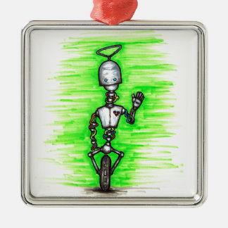 broken robot aka brobot metal ornament