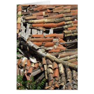 Broken Roof Tiles Greeting Card