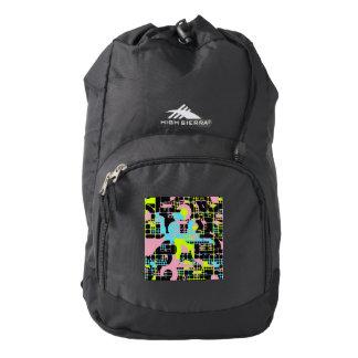 Broken shapes abstract design backpack