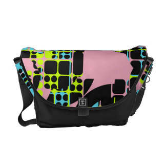 Broken shapes abstract design courier bag