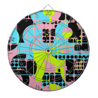 Broken shapes abstract design dartboard