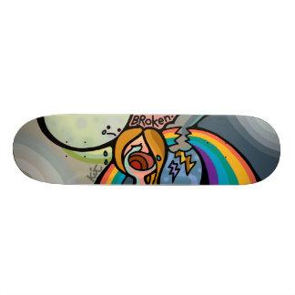 broken skateboard. skateboard