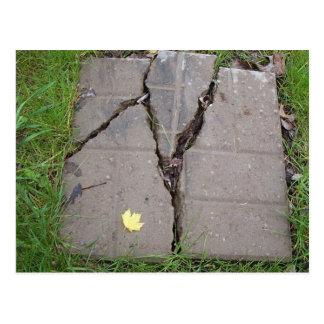 Broken Stepping stone Postcard