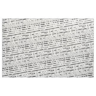 Broken Stripes Black Stripes Fabric