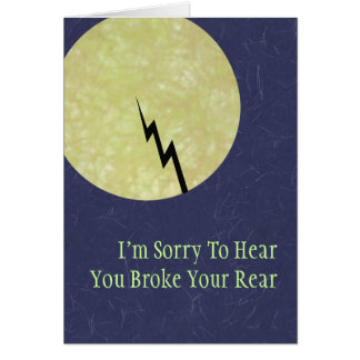Broken Tailbone Get Well Card