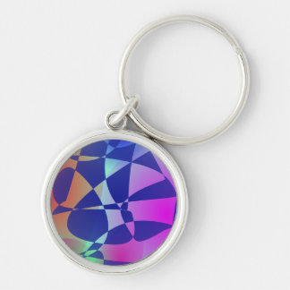 Broken Tile Mosaic Design Abstract Art Key Chain