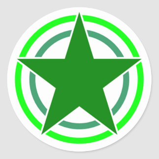 Broken Two Circle Star 15 Classic Round Sticker