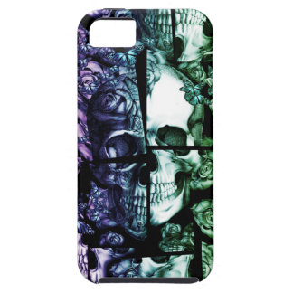 Broken up faded rainbow skull iPhone 5 cover
