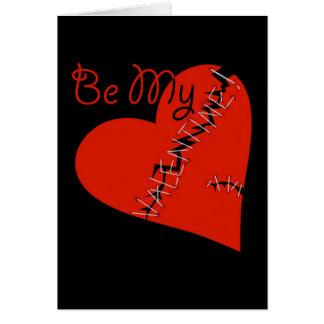 Broken Valentine's heart Card