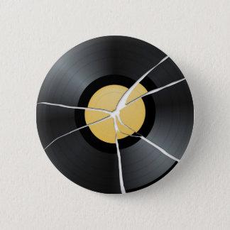 Broken Vinyl Record 2 Inch Round Button