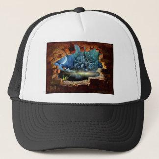 Broken wall view trucker hat