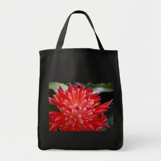 Bromeliad Flower Grocery Bag