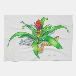Bromeliad Watercolor Kitchen Towel