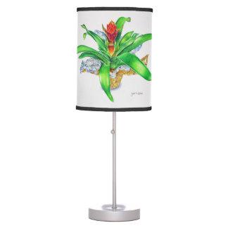 Bromeliad Watercolor Table Lamp