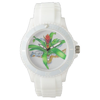 Bromeliad Watercolor Watch